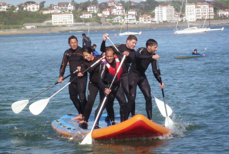 Paddle geant seminaire team bulding arcachon